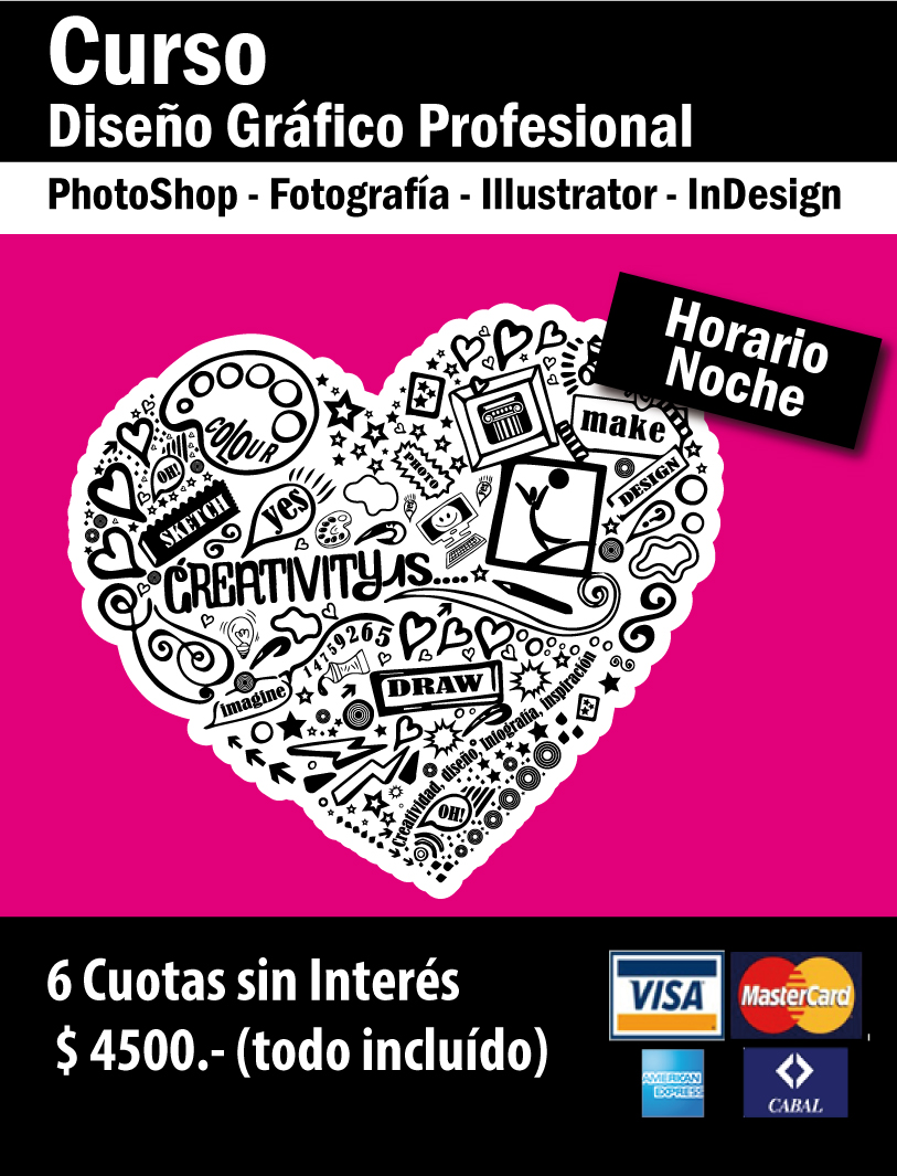 Curso de dise o gr fico photoshop illustrator indesign for Curso de diseno grafico